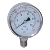 "All Stainless Steel Dry Gauges, Bottom Connection - 63mm Diameter, 1/4"" BSPP"