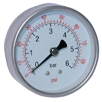 "All Stainless Steel Dry Gauges, Centre Back Connection - 63mm Diameter, 1/4"" BSPP"