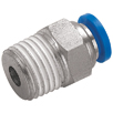 KELM One Touch NPT Plastic Push-in Fittings, Metric